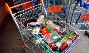 Groceries hanging out in the Ghost Trolley