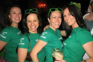 Girls in St Patrick's Day Green
