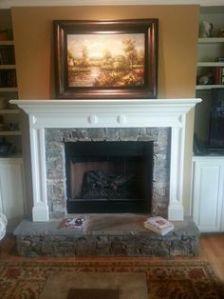 Unlit Fireplace