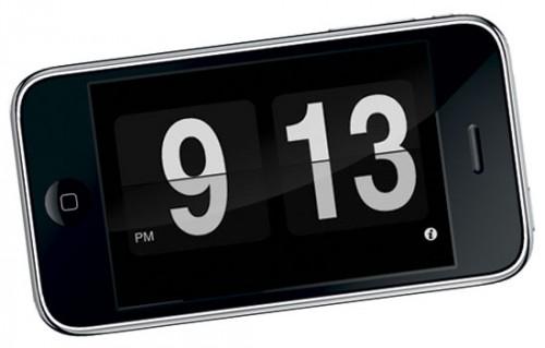Mobile phone clock