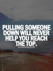 Pulling someone down