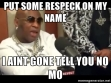 Put some respeck